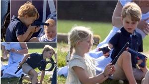 Nước Anh giật mình với bức ảnh hoàng tử nhí dùng súng ngắm bắn Công nương Kate