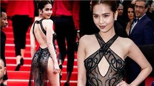 Báo Tây chê cười chuyện Ngọc Trinh mặc hở tại Cannes rồi bị đả kích tại chính quê nhà