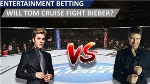 Nhà cái bất ngờ ra tỷ lệ cược sau khi Justin Bieber thách đấu Tom Cruise trên võ đài