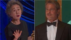 Sao Hàn 73 tuổi hài hước đáp trả khi bị hỏi 'Mùi của Brad Pitt thế nào' tại Giải Oscar 2021