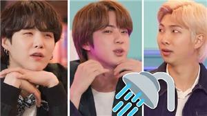 Phản ứng của BTS khi Jin kể về kiểu vừa tắm vừa... trồng cây chuối
