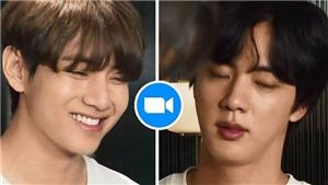 Jin và V BTS đúng chuẩn 2 kiểu người đối lập khi họp Zoom
