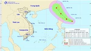 Xuất hiện áp thấp nhiệt đới gần biển Đông khả năng mạnh lên thành bão