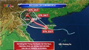Bão số 2: Bão giật cấp 11 vào đất liền sáng nay 4/7 từ Hải Phòng tới Nam Định
