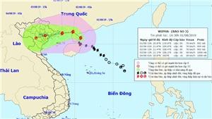 Bão số 3 mạnh giật cấp 12 đã suy yếu thành áp thấp nhiệt đới trên đất liền