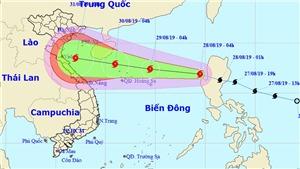 Bão số 4 trên biển Đông đã suy yếu thành áp thấp nhiệt đới
