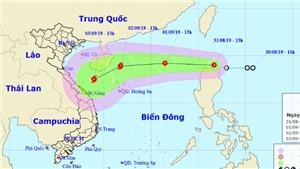 Áp thấp nhiệt đới sẽ đi vào biển Đông đêm 31/8 có thể mạnh lên thành bão số 5