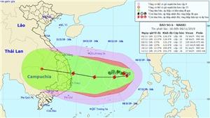 Bão số 6 mạnh giật cấp 15 hướng vào Quảng Ngãi đến Ninh Thuận