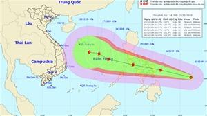 Tin bão mới nhất, cơn bão PHANFONE giật cấp 12 đang tiến vào Biển Đông