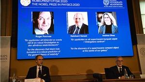 Giải Nobel Vật lý tôn vinh các nghiên cứu hố đen và vật thể siêu nặng vô hình ở tâm dải ngân hà