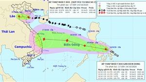 Bão số 7 vừa tan, dồn dập áp thấp nhiệt đới mạnh lên thành bão số 8 đổ bộ