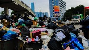 Xe đã có thể vận chuyển rác vào khu liên hiệp xử lý chất thải Nam Sơn, Hà Nội