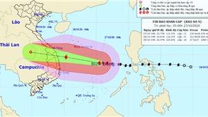 Bão số 9 mạnh thêm giật cấp 17 đổ bộ từ Đà Nẵng đến Phú Yên