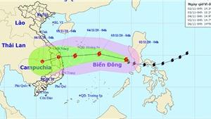 Tin bão khẩn cấp cơn bão số 10 trên Biển Đông