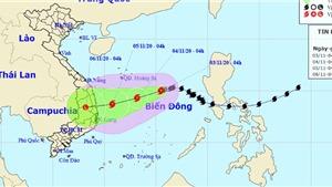 Bão số 10 giật cấp 10 đổ bộ đất liền các tỉnh từ Quảng Ngãi đến Khánh Hòa