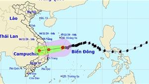 Bão số 10suy yếu thành áp thấp nhiệt đới