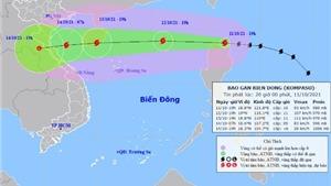 Bão Kompasu sẽ đi vào Biển Đông và tiếp tục mạnh thêm