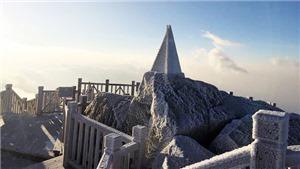 VIDEO: Thích thú ngắm tuyết phủ trắng đỉnh Fansipan