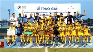 SLNA đánh bại Thanh Hóa, bảo vệ thành công ngôi vương U15 Quốc gia - Next Media 2019