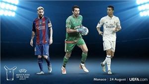Messi hay Ronaldo sẽ lập hat-trick Cầu thủ hay nhất năm của UEFA?