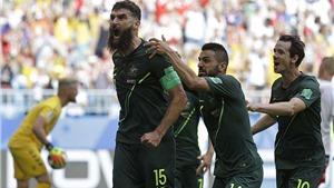 Video clip bàn thắng Đan Mạch 1-1 Úc: Úc có điểm nhờ VAR
