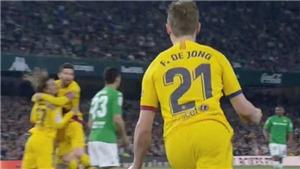 Barca: Phát sốt với pha kiến tạo ngoạn mục của Messi cho De Jong ghi bàn