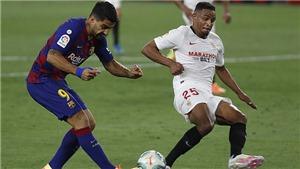 VIDEO Sevilla 0-0 Barcelona: Hòa thất vọng, Barca nguy cơ bị Real qua mặt