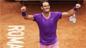 Rafael Nadal lần thứ 10 vô địch Roma Masters