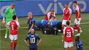 SỐC: Christian Eriksen bỗng dưng ngã gục, phải hô hấp tim ngay trên sân