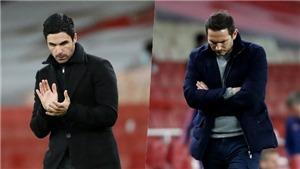 Lampard chê học trò lười chạy trong trận Chelsea thua 1-3 Arsenal