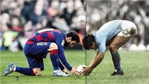 Video những pha bóng giống nhau đến kỳ lạ giữa Messi và Maradona gây sốt