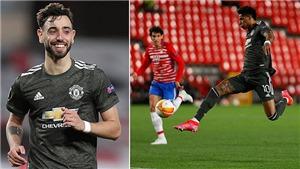 Granada 0-2 MU: Rashford và Fernandes ghi bàn, MU đặt một chân vào bán kết