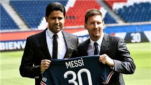 Chủ tịch PSG: 'Hy vọng Messi không đòi tăng lương'