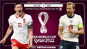 Soi kèo nhà cái Ba Lan vs Anh và nhận định bóng đá vòng loại World Cup (1h45, 9/9)