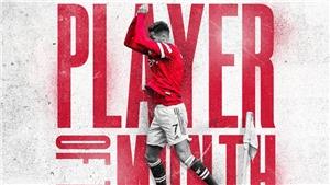 Ronaldo nhận danh hiệu Cầu thủ xuất sắc nhất Premier League tháng 9