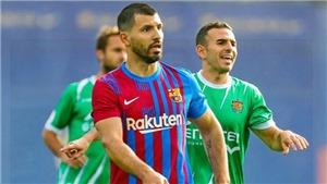 Barcelona: Aguero ghi bàn trong trận giao hữu, có thể ra mắt cuối tuần này