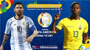 Kèo nhà cái. Soi kèo Argentina vs Ecuador. BĐTV trực tiếp bóng đá Copa America 2021