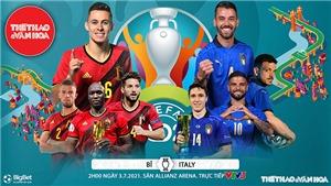 Kèo nhà cái. Soi kèo Bỉ vs Ý. VTV3 VTV6 trực tiếp bóng đá EURO 2021