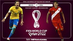 Soi kèo nhà cái Brazil vs Peru và nhận định bóng đá vòng loại World Cup (7h30, 10/9)