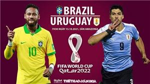Soi kèo nhà cái Brazil vs Uruguay. Nhận định, dự đoán bóng đá World Cup 2022 (7h30, 15/10)
