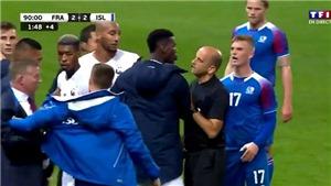 CẬN CẢNH: Paul Pogba hùng hổ lao vào sân, bảo vệ đàn em Kylian Mbappe