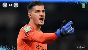 Leicester 1-1 (pen 1-3) Man City: Thủ môn 20 tuổi đưa 'The Citizens' vào bán kết cúp Liên đoàn