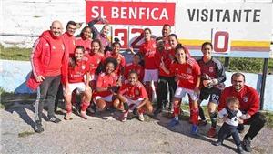 SỐC!!! Đội bóng nữ Benfica ghi 293 bàn mà chưa thủng lưới