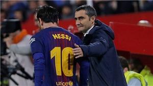 HLV Ernesto Valverde: 'Barcelona sẽ không mạo hiểm với Leo Messi'