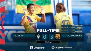 Eibar 0-3 Barcelona: Bộ ba nguyên tử Griezmann, Suarez và Messi thể hiện sức mạnh