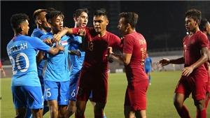 Cầu thủ U22 Indonesia và U22 Singapore ẩu đả dữ dội tại SEA Games 30