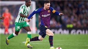 TRỰC TIẾP Barcelona vs Betis. Vòng 9 La Liga. Trực tiếp SSPORT, BDTV