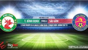 Soi kèo nhà cái Bình Định vs Sài Gòn.BĐTV, VTC3 trực tiếp bóng đá Việt Nam 2021
