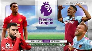 Soi kèo nhà cái MU vs West Ham. K+, K+PM trực tiếp Ngoại hạng Anh