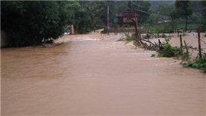 Nước lũ lên nhanh, nhiều xã ở huyện Thanh Chương, Nghệ An đang ngập nặng